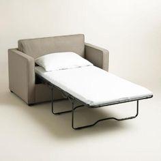 Pebble Gray Chad Chair-and-a-Half Twin Sleeper | World Market