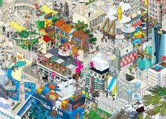 Digital Art Collective eBoy Is Making a Hyper-Detailed 'Pixorama' Pixel Art Illustration of San Francisco Le Silo Marseille, Image Pixel Art, Pixel City, Image Paris, Berlin, City Buildings, Art And Architecture, Digital Illustration, Les Oeuvres