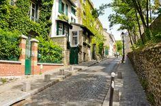 maisons de la rue Cortot, Paris 18è (Montmartre)