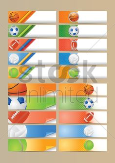set of sports banners Stock Vector