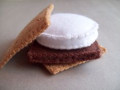 S'more and Marshmallow on a Stick combo felt food play by Kklaus, $15.00
