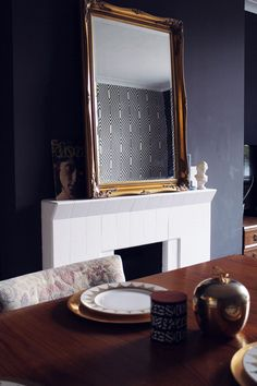 Living room table and mirror