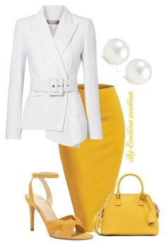 A fashion look from March 2018 featuring blazer jacket, pencil skirts and stilettos shoes. Cute Work Outfits, Classy Outfits, Chic Outfits, Big Girl Fashion, Cute Fashion, Womens Fashion, Fall Fashion Outfits, Work Fashion, Fashion Trends