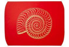 Shell Desk Blotter, Red on OneKingsLane.com $79