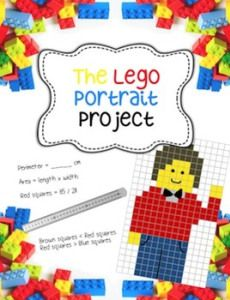 Lego Portrait Project - Fractions, Area, Perimeter, Art from Art Math Measurement, Math Fractions, Comparing Fractions, Maths, Lego Math, Math Classroom, Lego Duplo, Math Resources, Math Activities
