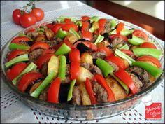 Fırında Patatesli & Patlıcanlı Köfte