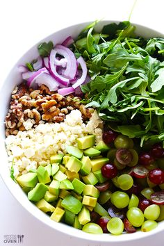Grape, Avocado & Arugula Salad