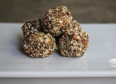 Dried Plum and Date Energy Bites