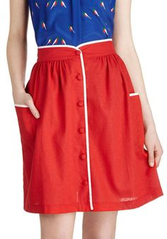 Uh. I bought this at forever 21 nearly a year ago, and it was 15 dollars.  Just sayin.  Dish it Haute Skirt, #ModCloth