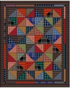 Quilting Memories: Quilts Made From Plaid Shirts