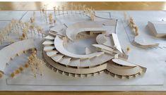 Junior High School Saint-Maurice de Beynost │ Competition in 2000 :: Pictures and Description of the Project Maquette Architecture, Architecture Design, Concept Models Architecture, Architecture Model Making, Architecture Student, Architecture Portfolio, Archi Design, Arch Model, Modelos 3d
