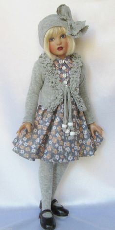 """""""Shea's Gray Day"""" Outfit for 14"""" Kish Chrysalis Lark etc Made by Ssdesigns   eBay"""