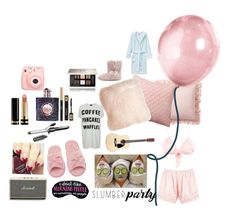 """""""Slumber party!!!!"""" by tho0134 on Polyvore featuring Boohoo, Pottery Barn, Pillow Decor, Deluxe Comfort, Topshop, Marshall, BaByliss, Yves Saint Laurent, Givenchy and Gucci"""