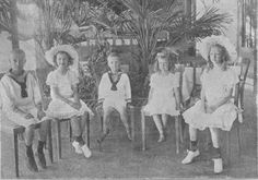 Marie Valerie's younger children l-r: Theodor, Gertrud, Clemens, Mathilde, and Maria