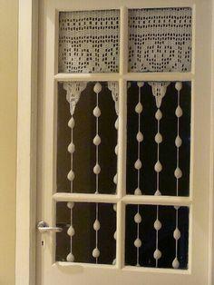 Cortina de porta/janela cozinha lindaaaa de croché