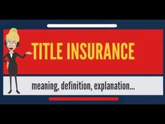 What is TITLE INSURANCE? What does TITLE INSURANCE mean? TITLE INSURANCE meaning & explanation.    [sociallocker][/sociallocker] What is TITLE INSURANCE? What does TITLE INSURANCE mean? TITLE INSURANCE meaning &- TITLE INSURANCE definition - TITLE INSURANCE ... source