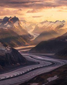 Glaciers, Boundary Range, Alaska. Land of the glaciers