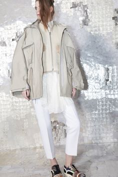 Acne Studios Pre-Fall 2013 I'm really loving this lightened camel hue..and the sneakers!