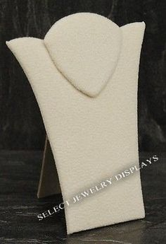 Beige Suede Necklace Display Jewelry Displays Easel $1.98