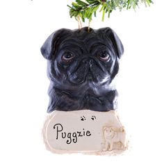 Pug Christmas ornament  Dog Christmas Ornament  by Christmaskeeper, $13.95