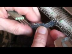 Bordino per unire - YouTube Knitting Machine, Turquoise, Make It Yourself, Youtube