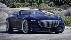 The sensational luxury-class cabriolet from Mercedes-Benz made its presence for the first time at the Pebble Beach Concours d'Elegance. Dubbed Mercedes-Maybach 6 Cabriolet, the car is the n. Mercedes Benz Maybach, New Mercedes, Maybach Car, Moto Ducati, Pebble Beach, Bmw, Dream Cars, Convertible, Muscle Cars