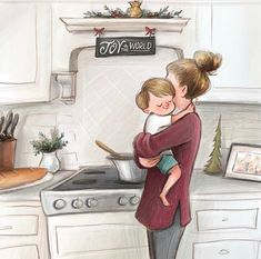 Hope that you all had a lovely thanksgiving! I'm kind of excited to get back into my normal routine and get back to drawwwwing ☺️☺️☺️ It's almost as if I️ am addicted to it. Mother Daughter Art, Mother Art, Mother And Child, Mommy And Son, Mom Son, Buch Design, Cute Couple Art, Girly Drawings, Family Illustration