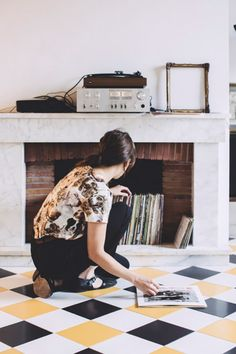 Freunde von Freunden — Carolina Iriarte — Fashion Designer, Studio and Store, Barri Gòtic El Born, Barcelona Decor, Sfgirlbybay, Fireplace Apartment, My Ideal Home, Fireplace Surrounds, Vinyl, Unused Fireplace, Flooring, Inspiration