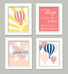 Hot Air Balloon Nursery Oh the places you will go by ChicWallArt, $38.00