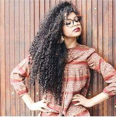 @steffany_borges || long curly hair. long curly wavy hair. natural hair…