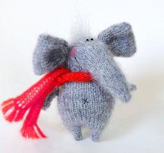 Grappige grijze olifant  Amigurumi Toy miniatuur door MiracleStore
