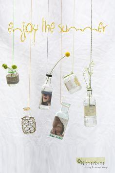DIY, enjoy the summer, vases © Anouk De Kleermaeker Cute Diys, Repurposed Furniture, Decoration, Glass Jars, Diy Design, Upcycle, Concept, Lifestyle, Vases