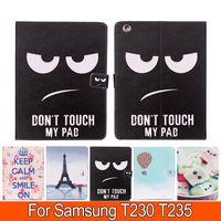 Cover For Samsung Tab 4 T230 T235 7.0' inch Smart PU Leather Cute Angry Tower…