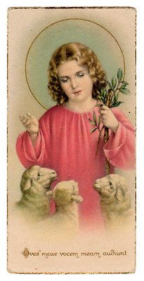 1936-Jesus-The-Good-Shepherd-Vintage-Miniature-French-Holy-Card-N-G-Basevi