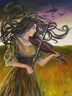 Girl and Fiddle