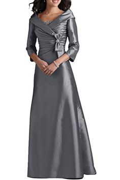 Angel Bride V-Neck Long Mother Dresses of the Brides Evening Birthday Gowns Chocolate- US Size 14 Mob Dresses, Pageant Dresses, Satin Dresses, Nice Dresses, Fashion Dresses, Long Mothers Dress, Mothers Dresses, Mother Of The Bride Dresses Long, Mother Of Bride Outfits