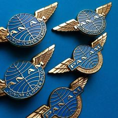 Pan Am Metal Wings for Junior Stewardesses and Pilots (1960)