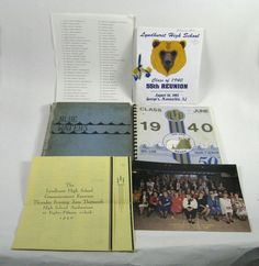 Yearbook Class 1940 Blue Waters Golden Bears 50th and 55th Reunion Lyndhurst NJ