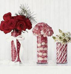 Holiday flower arrangements christmas