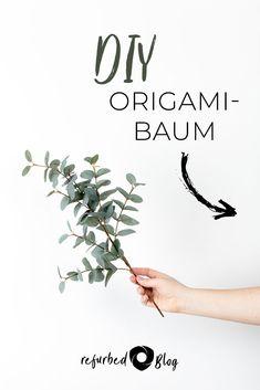 Ein Kunstwerk für den Umweltschutz. #refurbed #baum #origami #diy #umwelt #nachhaltig #nachhaltigkeit #umweltschutz #blog Origami, Home Decor, Environmentalism, Sustainability, Artworks, Trees, Plants, Tutorials, Homemade Home Decor