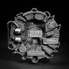 The making of Fourspeed X Vance Kelly buckle by fourspeed artifex, via Behance