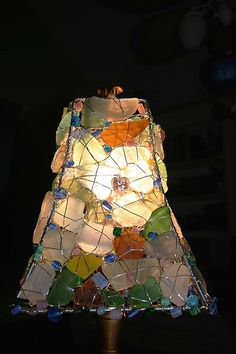 Sea Glass Lamp Side4