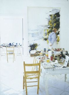 Cy Twombly's workspace...