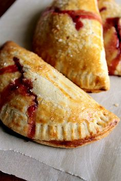 Strawberry, Basil and Honey Hand Pies