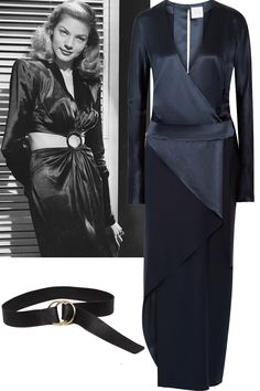 Wrap dress + belt Dion Lee dress, $1,770, net-a-porter.com; B-Low The Belt belt, $148, b-lowthebelt.com.   - ELLE.com