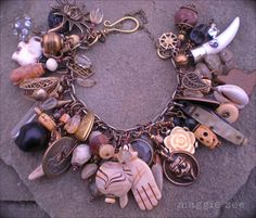 Lucky Mojo Charm Amulet Bracelet by maggiezees on Etsy, $185.00