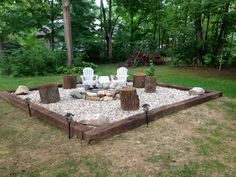 Easy and Cheap Fire Pit and Backyard Landscaping Ideas (24)