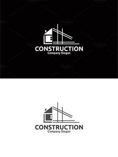 Retro restaurant logo with vintage style logo collection Construction Company Logo, Construction Business Cards, Arquitectura Logo, Logo Branding, Branding Design, Architect Logo, Architect House, Building Logo, Brochure Design