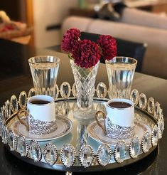 Ahve # # my coffee ols - - Coffee Cafe, My Coffee, Table Centerpieces, Table Decorations, Delicious Donuts, Dining Decor, Turkish Coffee, Chocolate Coffee, Cool Kitchens