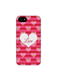 Silver Hearts Red and Pink Stripes iPhone Case - #EpigramCases #iphone6case #galaxys5case